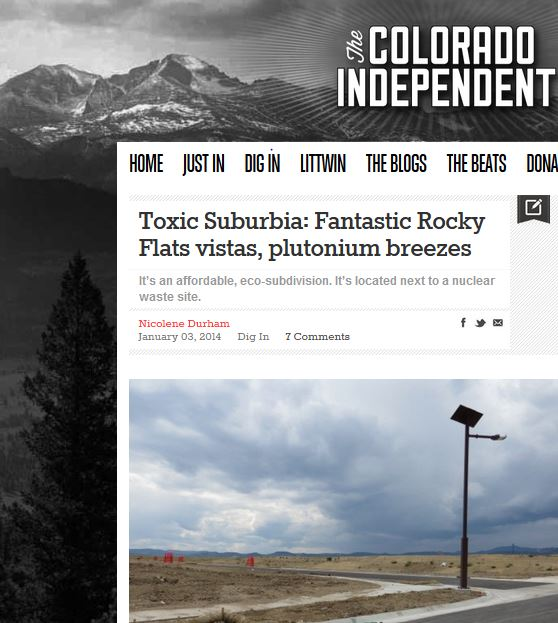 Great Article on Toxic Suberbia from Colorado Independent