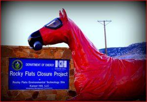 RF Horse at sign