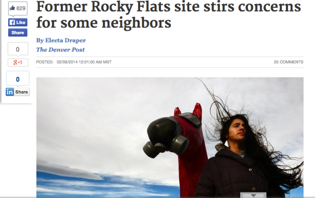 Denver Post Article on Candelas Glows & Rocky Flats concerns